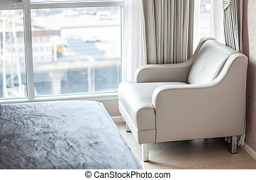 Furniture chair in bedroom