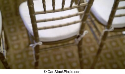 Furniture chairs in hall at event