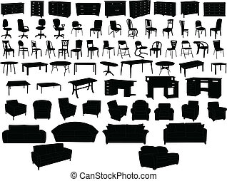 Furniture collection - vector