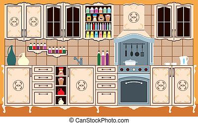 furniture., cuisine, intérieur