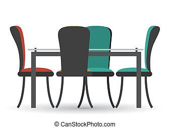 Furniture design over white background, vector illustration