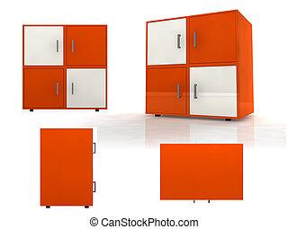 furniture design - 3d illustration of some furniture for...