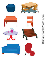 Furniture Equipment Illustration in Vector - Assorted ...