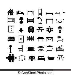 Furniture icon illustration design