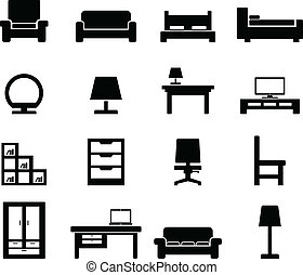 Furniture icon set for your design