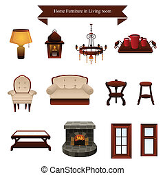 Furniture icons - A vector illustration of furniture icons ...