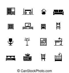 Furniture Icons // Black Series