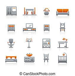Furniture Icons // Graphite Series