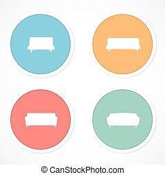 Furniture icons - sofa