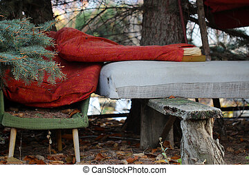 ... Furniture In A Forest Dump   Old Decrepit Furniture In A... ...