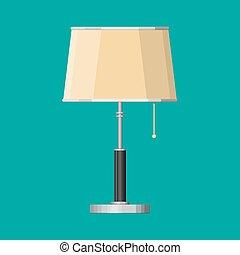 Furniture interior lamp. Lighting equipment. Vector ...