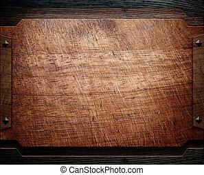furniture), legno, fondo, struttura, (antique