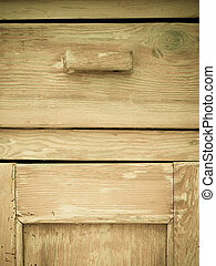 Furniture part. Closeup of wooden kitchen cabinet -...