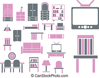 furniture signs - furniture professional cute signs, vector