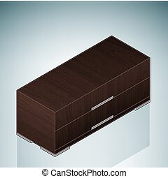 Furniture: Small Bedroom Chest of D