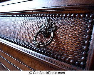Furniture - A fullframe on furniture made of wood