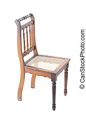 Furniture - Isolated Wood Chair on white background .