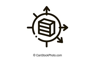 furniture transposition Icon Animation. black furniture transposition animated icon on white background