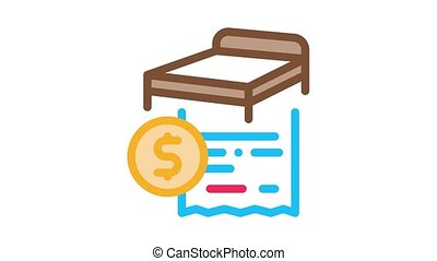 furniture transposition Icon Animation. color furniture transposition animated icon on white background