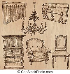 Furniture - Vector sketches, line art