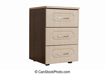 furniture wood bedside table isolated