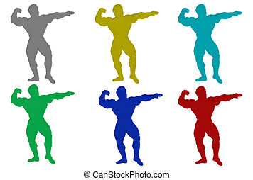 Furry Body Builder Silhouettes
