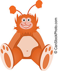 Furry Fuzzy Orange Monster