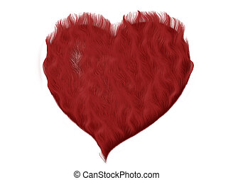 furry heart - computer generated heart design