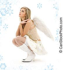 furry, kjol, ängel
