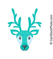 Furry North Pole Deer with Long Branchy Horns - Furry North ...