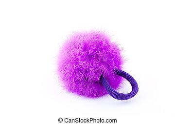 Furry pink scrunchie