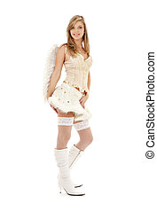 furry skirt angel - picture of lovely angel girl in furry...