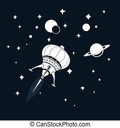 fusée, espace