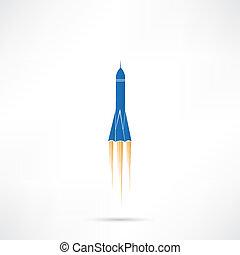fusée, icône