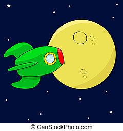 fusée, lune