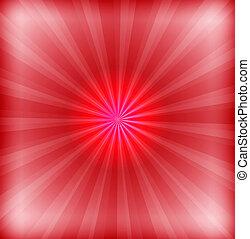 fusée objectif, arrière-plan rouge