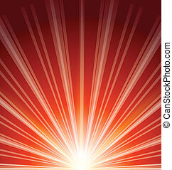 fusée objectif, résumé, fond, lumière soleil