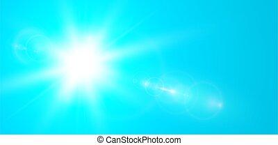 fusée objectif, soleil