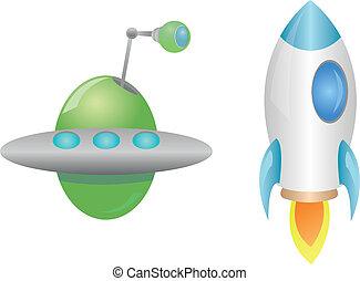 fusée, ovnis