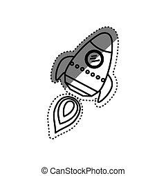 Fus e vaisseau spatial illustration dessin anim rigolote fus e illustration vaisseau - Dessin vaisseau spatial ...