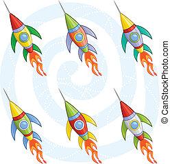 fusées, dessin animé