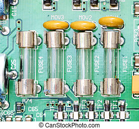 fuse and component with circuit board - fuse and component...