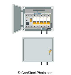 Fuse box. Electrical power switch panel. Electricity ...