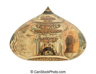 Fused Glass Decorative Ornament. Islamic Architecture Detail