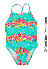 fused turquoise swimsuit