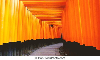 Fushimi Inari Shrine or Fushimi Inari Taisha, a Shinto...