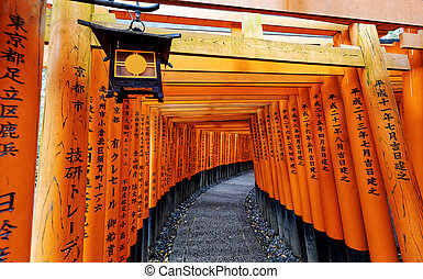 Fushimi Inari Taisha Shrine in Kyoto City, Japan