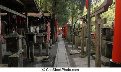 Fushimi Inari Taisha torii gates - Tori gates and stone...