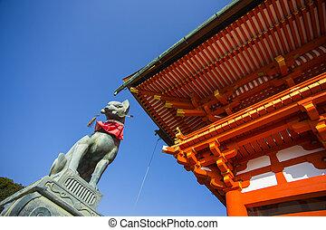 fushimi, kyoto., inari, shrine., 日本, taisha