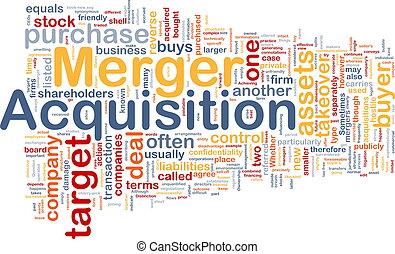 fusión, adquisición, plano de fondo, concepto